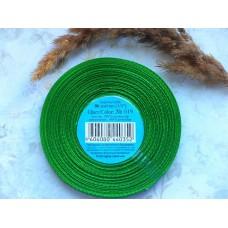Атласная лента ярко-зеленая