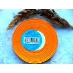 Атласная лента апельсинового цвета