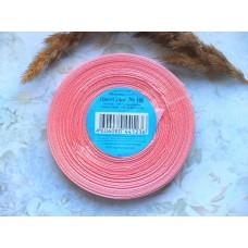 Атласная лента персиковая с розовым оттенком