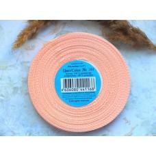 Атласная лента персикового цвета