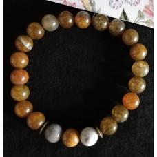 Набор для создания мужского браслета из каменных бусин