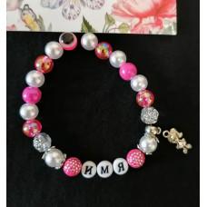 Набор для создания именного ярко-розового браслета