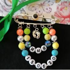 Набор для создания разноцветной именной булавки с датой рождения