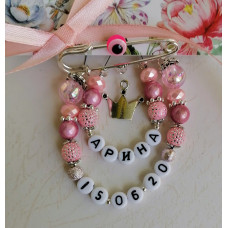 Набор для создания именной розовой булавки