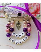 Набор для создания именной розово-фиолетовой булавки