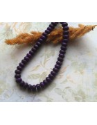 Бусины каменные бирюза темно-фиолетовые в форме таблетки