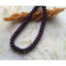 Бусины каменные бирюза темно-фиолетовые 8*4 мм