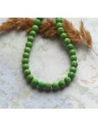 Бусины каменные бирюза светло-зеленые 8 мм