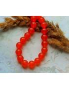 Бусины каменные топаз оранжевые 10 мм