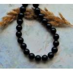 Бусины каменные агат черные 12 мм