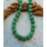 Бусины каменные нефрит (жадеит) светло-зеленые 10 мм
