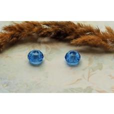 Бусина Pandora Style стеклянная темно-голубая