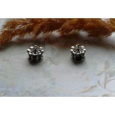 Бусины Pandora Style в форме короны металлические со стразами