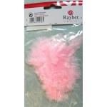 Перья декоративные бледно-розовые 8 см 10 шт