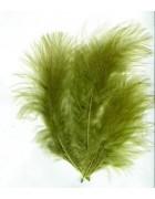 Перья декоративные темно-зеленые 8 см 10 шт.