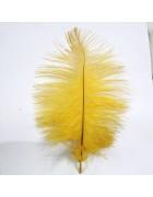 Перо страуса желтое