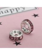 Рондели темно-розовые 8 мм