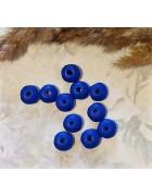 Рондели деревянные синие матовое покрытие 10 мм