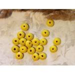 Рондели деревянные желтые матовое покрытие 10 мм