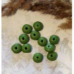 Рондели деревянные зеленые матовое покрытие 10 мм