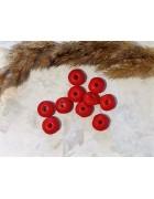 Рондели деревянные красные матовое покрытие 10 мм