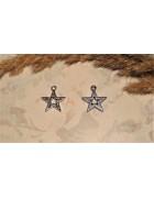 Подвеска металлическая Звезда 18*16 мм. Цвет черненое серебро