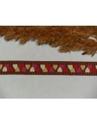 Лента репсовая коричневые сердечки