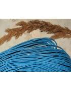 Шнур вощеный ярко-голубой. 1.5 мм