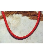 Шнур искусственная кожа красный 5 мм