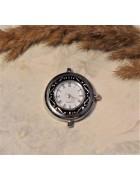 Циферблат круглый 25 мм. Цвет черненое серебро