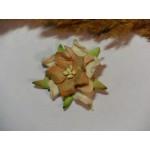 Цветок бежевых оттенков из прессованной бумаги