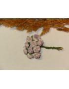 Розы из прессованной бумаги сиренево-белые