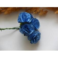 Гвоздики из прессованной бумаги синие