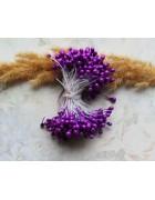 Тычинки двусторонние насыщенно-фиолетовые. 10 шт