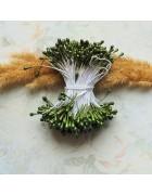 Тычинки двусторонние зеленые. 10 шт
