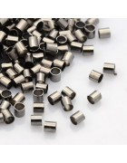 Кримпы-трубочки цвета никель 2 мм. 50 шт