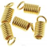 Зажимы Пружина 8*4 мм. Цвет золото