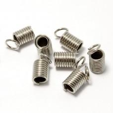 Концевики Пружина 9*4 мм. Цвет серебро