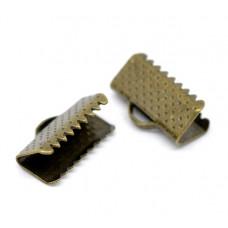Зажим для ленты 13*8 мм. Цвет бронза